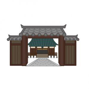 寺院の入り口にあるのは【山門】