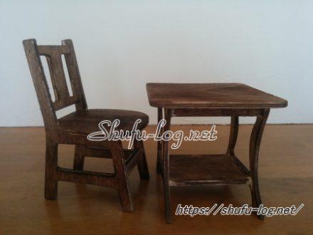 レトロな古民家風家具(テーブル&椅子)にクラスチェンジ!