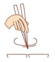 迷い箸は、箸を皿の上でフラフラさせること