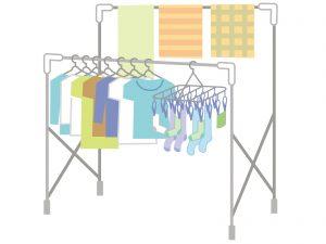 洗濯物を部屋干しすることで湿度を上げる