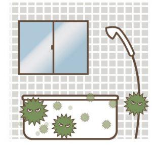 浴室は床に近いほど菌が多くなる